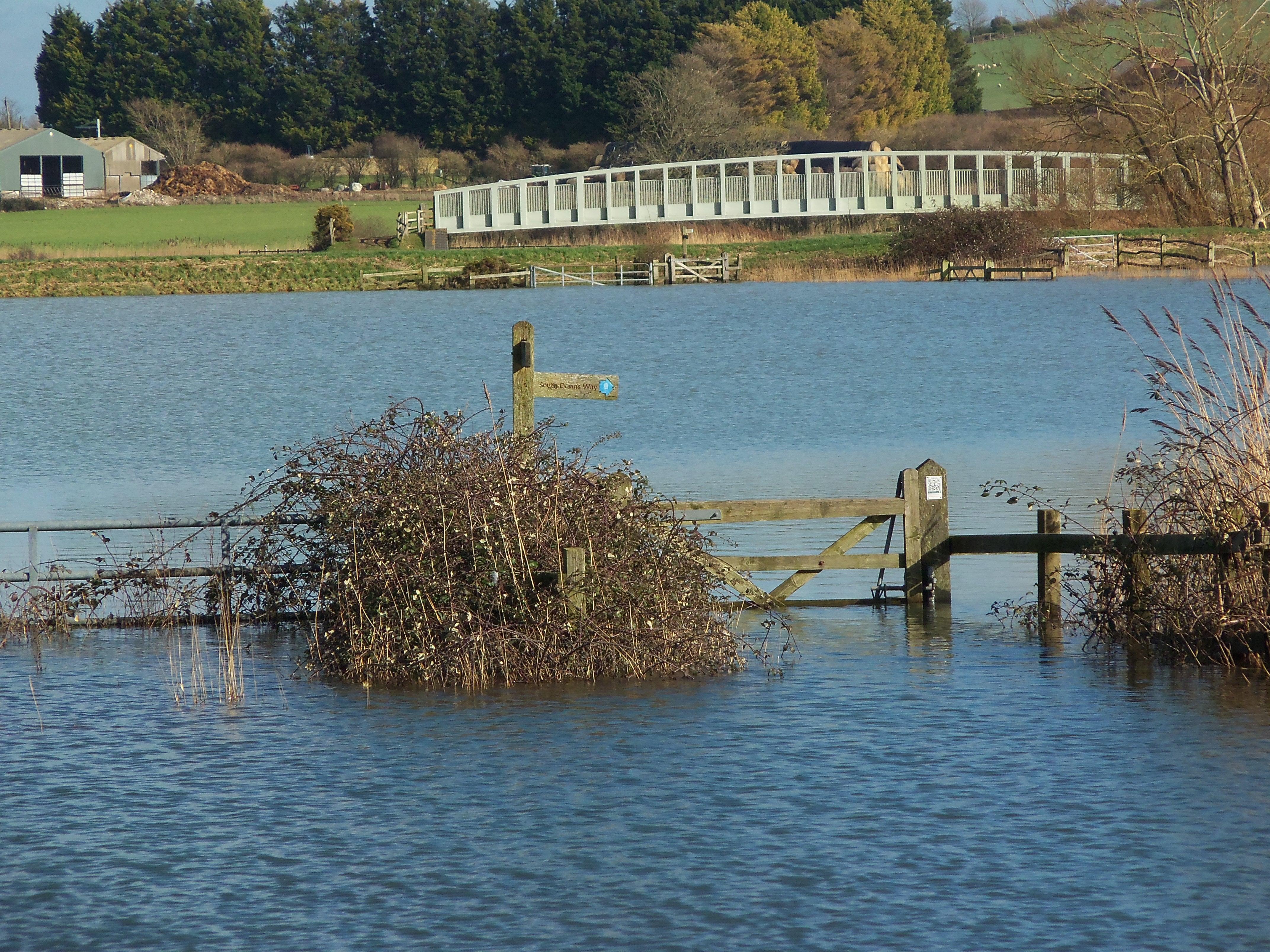 image of Sussex flood waters near Arundel