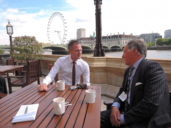image of Peter Kyle MP and Roger Amerena at the House of Commons