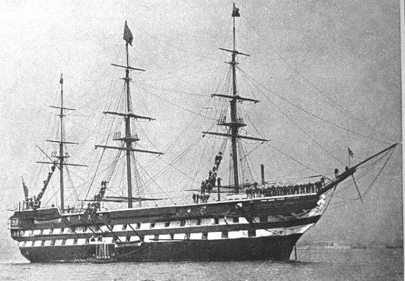 image of HMS Conway ex Nile c.1890