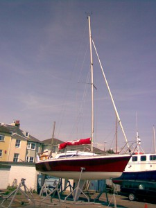 Firefox at Sussex Yacht Club-the white underneath is the part submerged