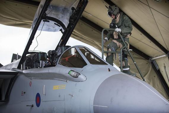 Royal Air Force Tornado GR4 aircrew prepare to depart RAF Akrotiri.Picture: Corporal Neil Bryden RAF, Crown copyright]