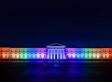 image of RMA Sandhurst lit up in the rainbow flag