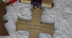 image of Military Cross awarded to Lieut. NV Bowater