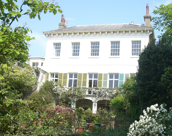 image of Montpelier Hall showing its lovely garden