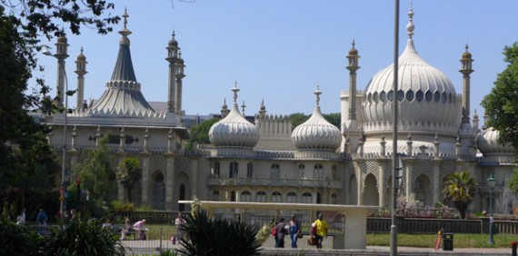 photo of famous landmark in centre of Brighton-Georgian Indian Palace built for the Prince Regent