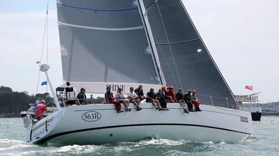 End of the 50 mile Round The Island Race is back at Cowes