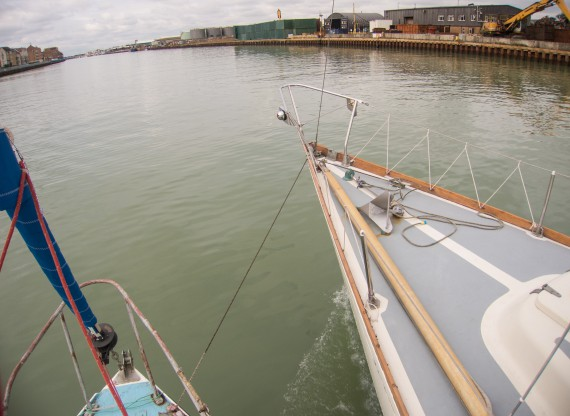 Homeward bound-towed up River Adur