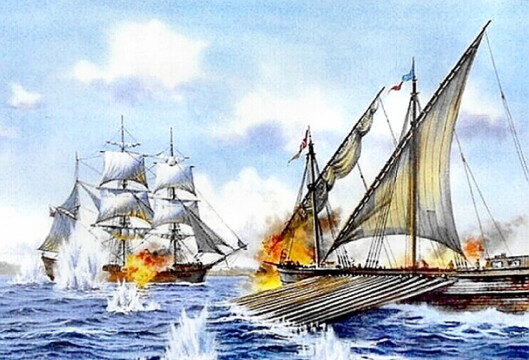 image of barbary pirate galleon