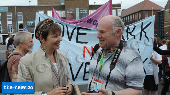 image of Caroline Lucas MP talks to William Mills